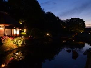 夕暮れの廉池軒