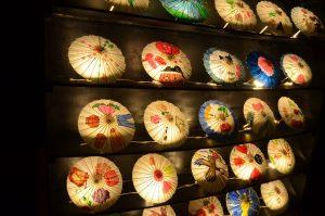和傘アート展示
